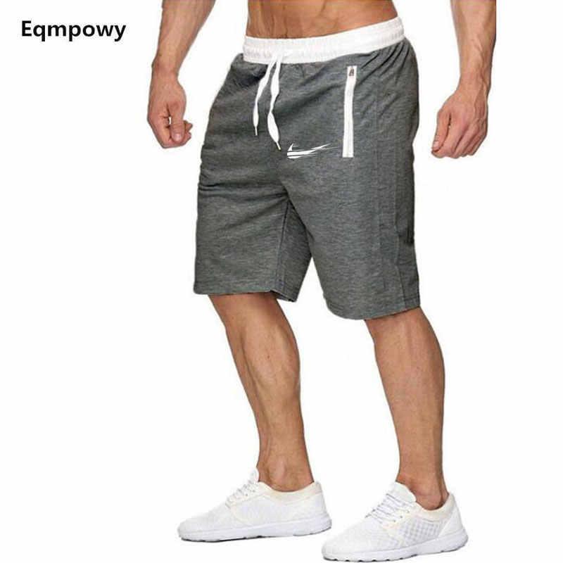 Модные брендовые повседневные мужские шорты 2019 весна лето Мужские Спортивные штаны Фитнес, бодибилдинг, тренировка мужские модные шорты