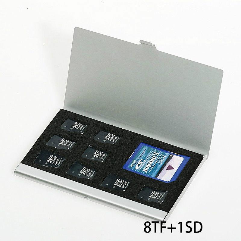 1 Stücke 8 In 1 Tragbare Aluminium Micro Für Sd Tf Sdhc Tf Ms Speicherkarte Aufbewahrungskoffer Box Tasche Schutz Halter Moderater Preis