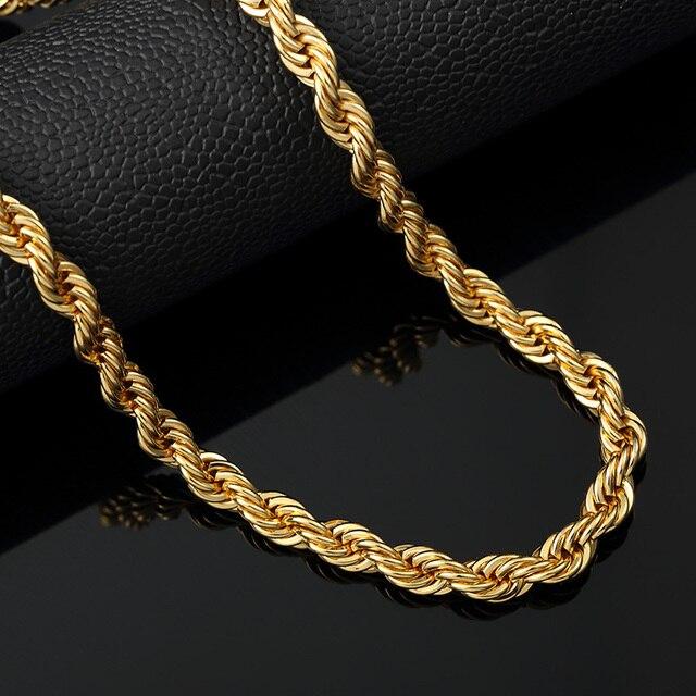 long bailarinas hip hop jewelry woman cadenas de oro men thick rope