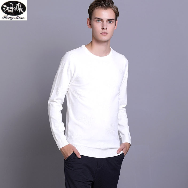 2018 Autumn Men Pullovers Sweater New Solid Color O-neck Long-sleeves Knitted Casual Thin Sweater Slim Simple Tops