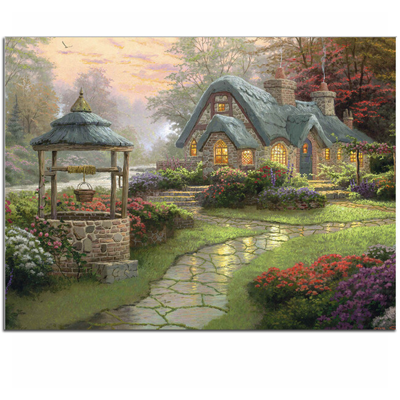 Diamond embroidery Dream house 40x30 Diy Diamond painting square drill rhinestone pasted full Cross stitch crafts Needlework ZX