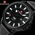 Homens sport watch naviforce marca homens relógio de quartzo luminosa moda nylon banda auto data 30 m à prova d' água relógios de pulso reloj hombre