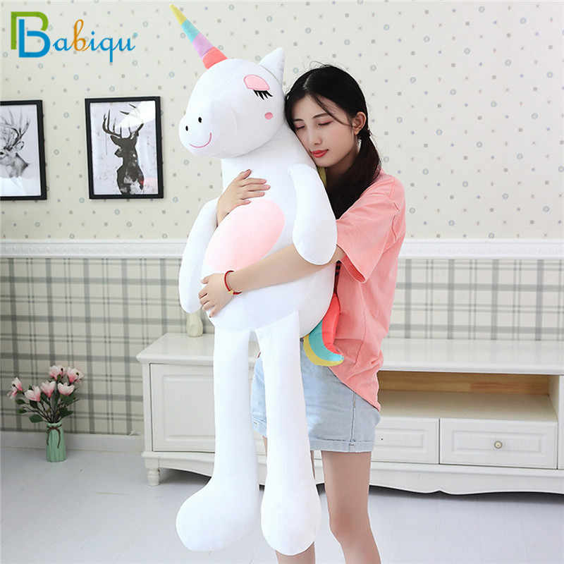 1pc 60-160 centímetros Kawaii Rainbow Unicorn Plush Toys Stuffed Animal Cavalo Boneca De Pelúcia para As Crianças Crianças Apaziguar brinquedo de Presente para As Meninas