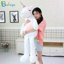 1pc 60 160cm Kawaii Rainbow Unicorn Plush Toys Stuffed Animal Horse Plush Doll for Children Kids Appease Toy Gift for Girls