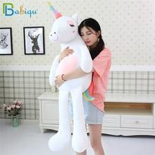 1pc 60 160cm Kawaii קשת Unicorn בפלאש צעצועים ממולא בעלי החיים סוס בפלאש בובה לילדים ילדים לפייס צעצוע מתנה עבור בנות