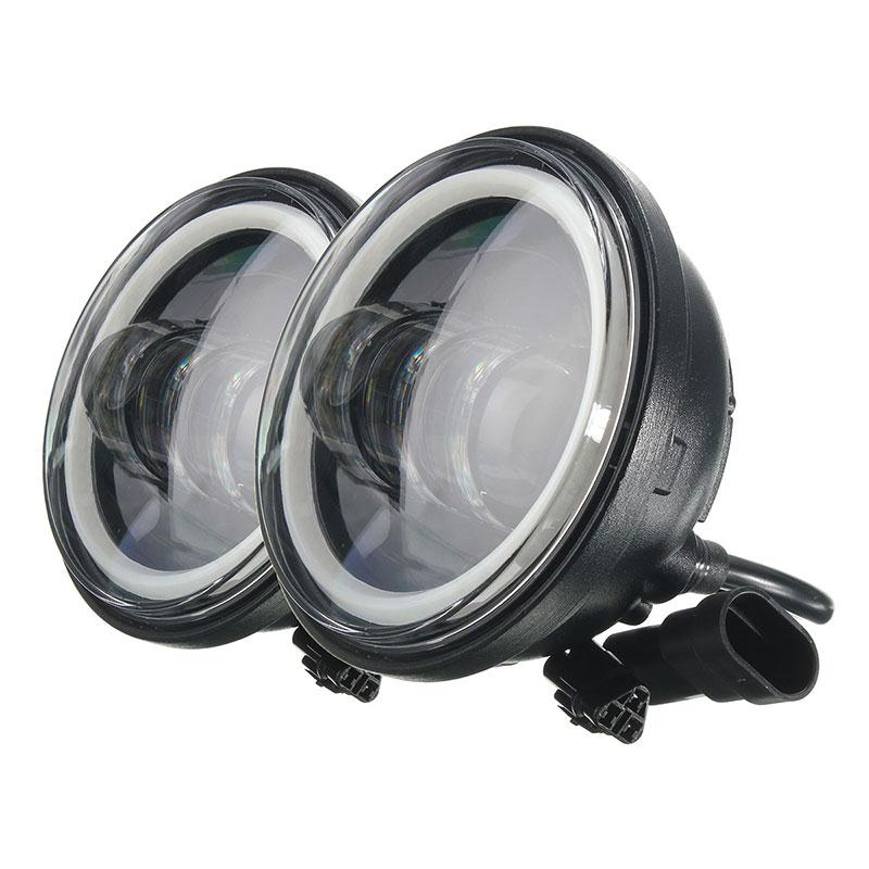 Пара 4.5 дюймов Водонепроницаемый из светодиодов Противотуманные фары DRL угол глаза лампы для мотоциклов Harley