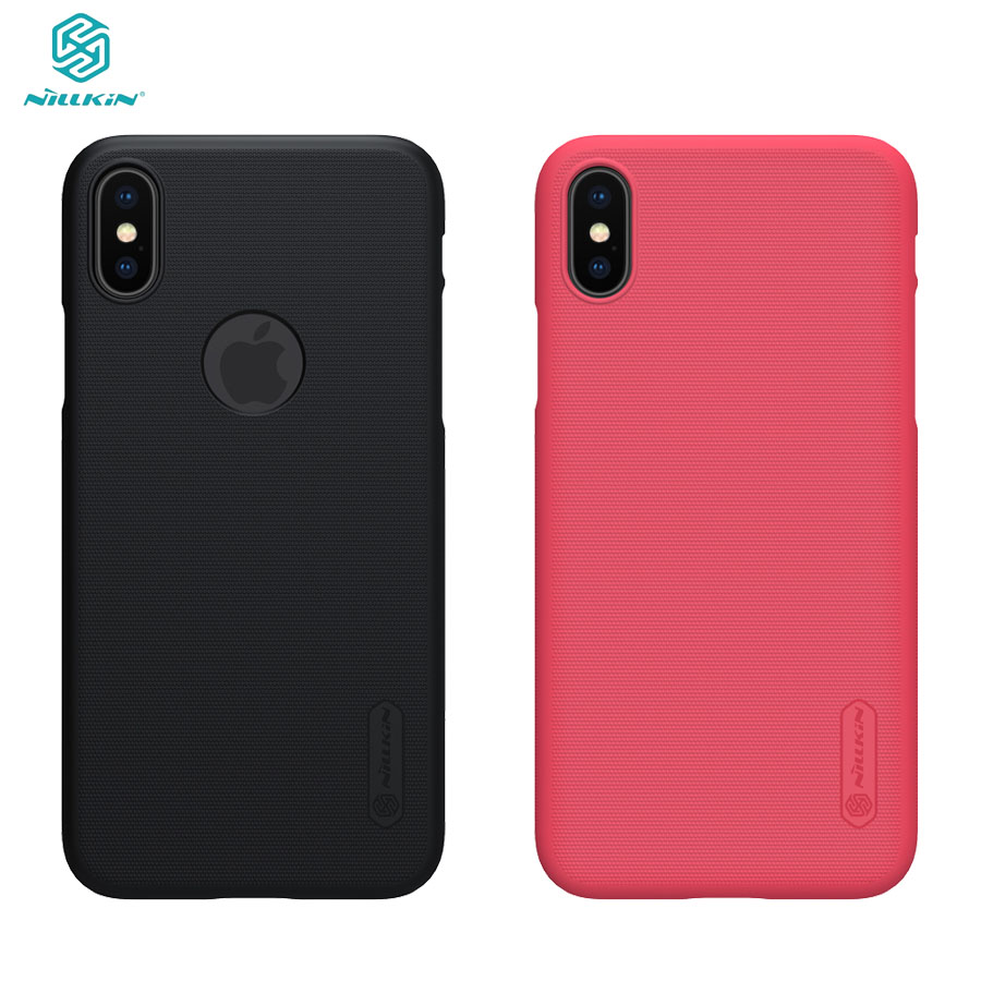 For iPhone X XS Case Cover Nillkin Phone Case Super Frosted Shield Matte Hard PC Back Cover Black protector Case For iPhone XS