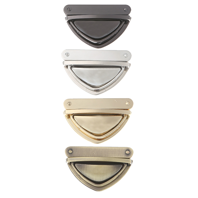 Fashion Metal Clasp Bag Accessories Turn Lock Twist Locks for DIY Handbag Shoulder Bag Purse Gold,Black,Bronze,Silver