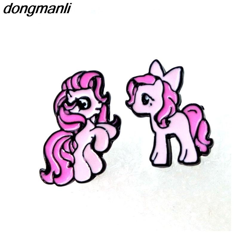 P320 dongmanli 1pairs Popular cartoon unicorn horse s