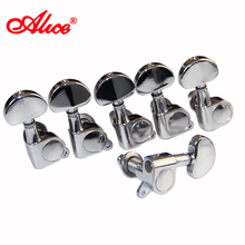 ALICE AD-016P Single Chrome-Plated Locked Left-hand Guitar Tuning Pegs Guitar Tuner Keys Guitar Accessories