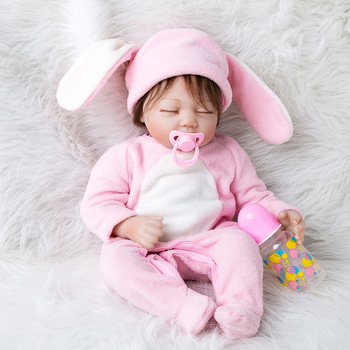 55cm Newborn Baby Reborn Doll Toys Set For Girls Silicone Sleeping Reborn Dolls with Clothes Realistic Toys Kids Birthday Gifts