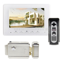DIYSECUR 7 inch Видео Домофон Видео-Телефон Двери 600TV Линии ИК Ночного Видения Камера Наружного + Электрический Замок