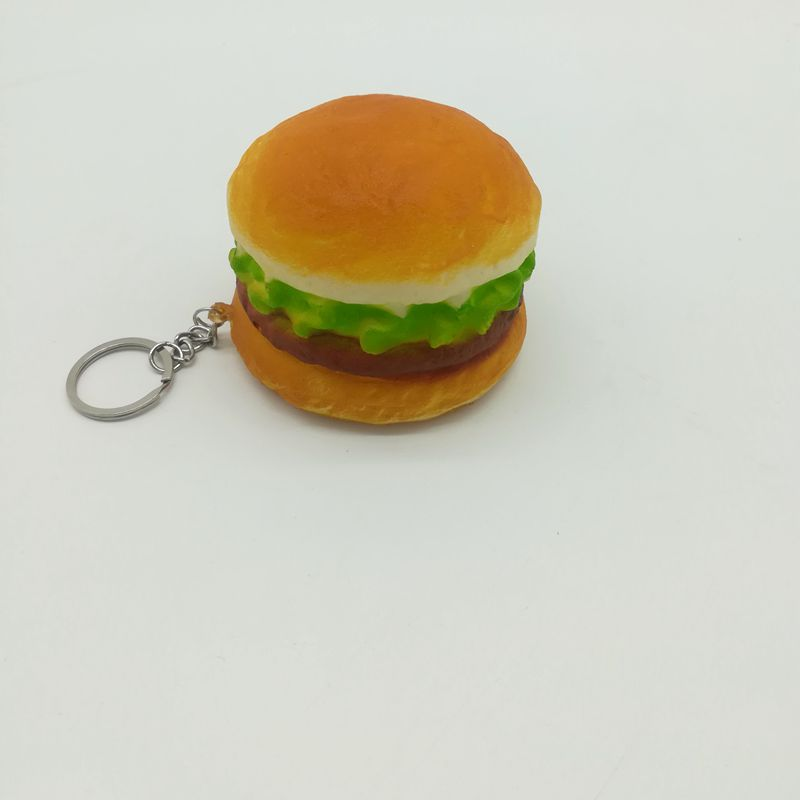 Pretend Play Cute 7cm Squishy Hamburger Toy Kids Kitchen Toy Squishy Pendants Baby Toys Phone Straps For Cell Phone kids