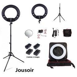 Black FD-480II LED Ring lamp Light Make up Lighting sefie ring lamp set + standing (2M)+ bag + batteries CD50