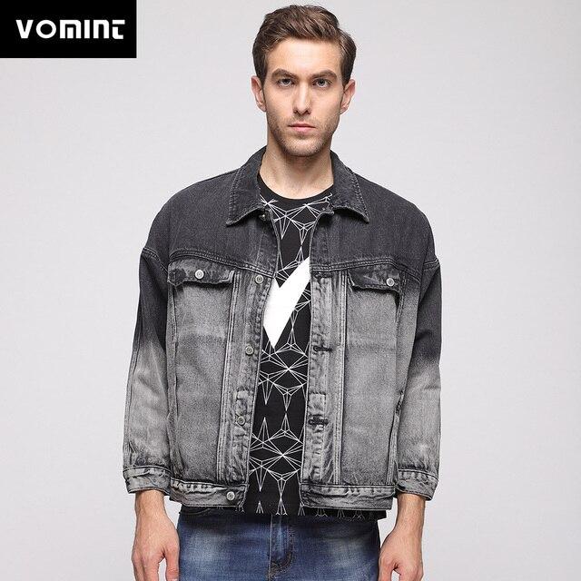 Vomint 2019 New Arrivals Men S Denim Jacket Color Blocking Short