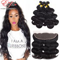 New Star Hair Brazilian Body Wave Lace Frontal Closure With Bundles 7A Unprocessed Human Virgin Hair Weave Bundles With Closure