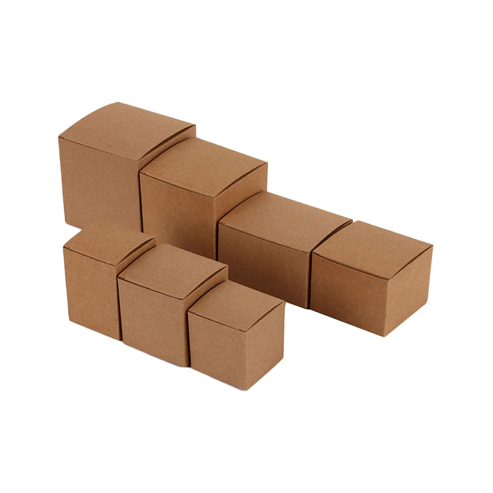 100pcs DIY Kraft Paper Candy Box Wedding Favors Gift Party Supply Birthday Christmas Party gift ideas Packaging boxes