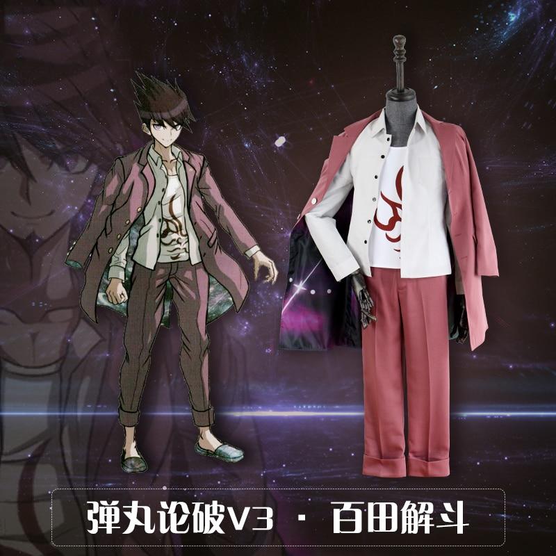 Stock Anime New Danganronpa V3 Momota Kaito College Astronaut Uniforms Cosplay Costume Suit Free Shipping