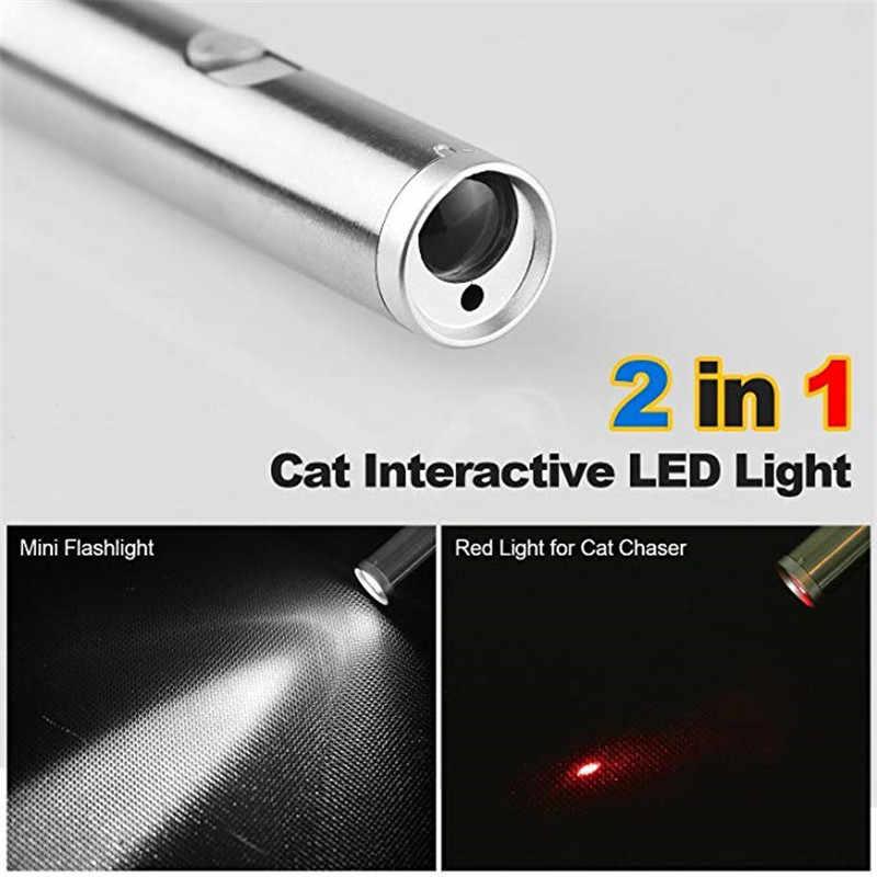 2 ב 1 Multitool Funchinal לייזר עט Chaser אינטראקטיבי צעצועים לחתולים לחיות מחמד אימון כלי עם LED פלאש אור עבור חיצוני קמפינג