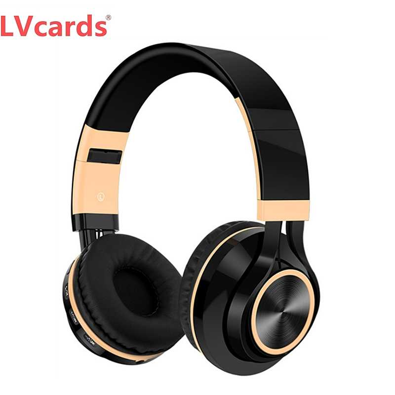 Lvcards Earphone Bluetooth Headphone Musik Headset Nirkabel/Kabel Headphone Mendukung TF Kartu/FM B101
