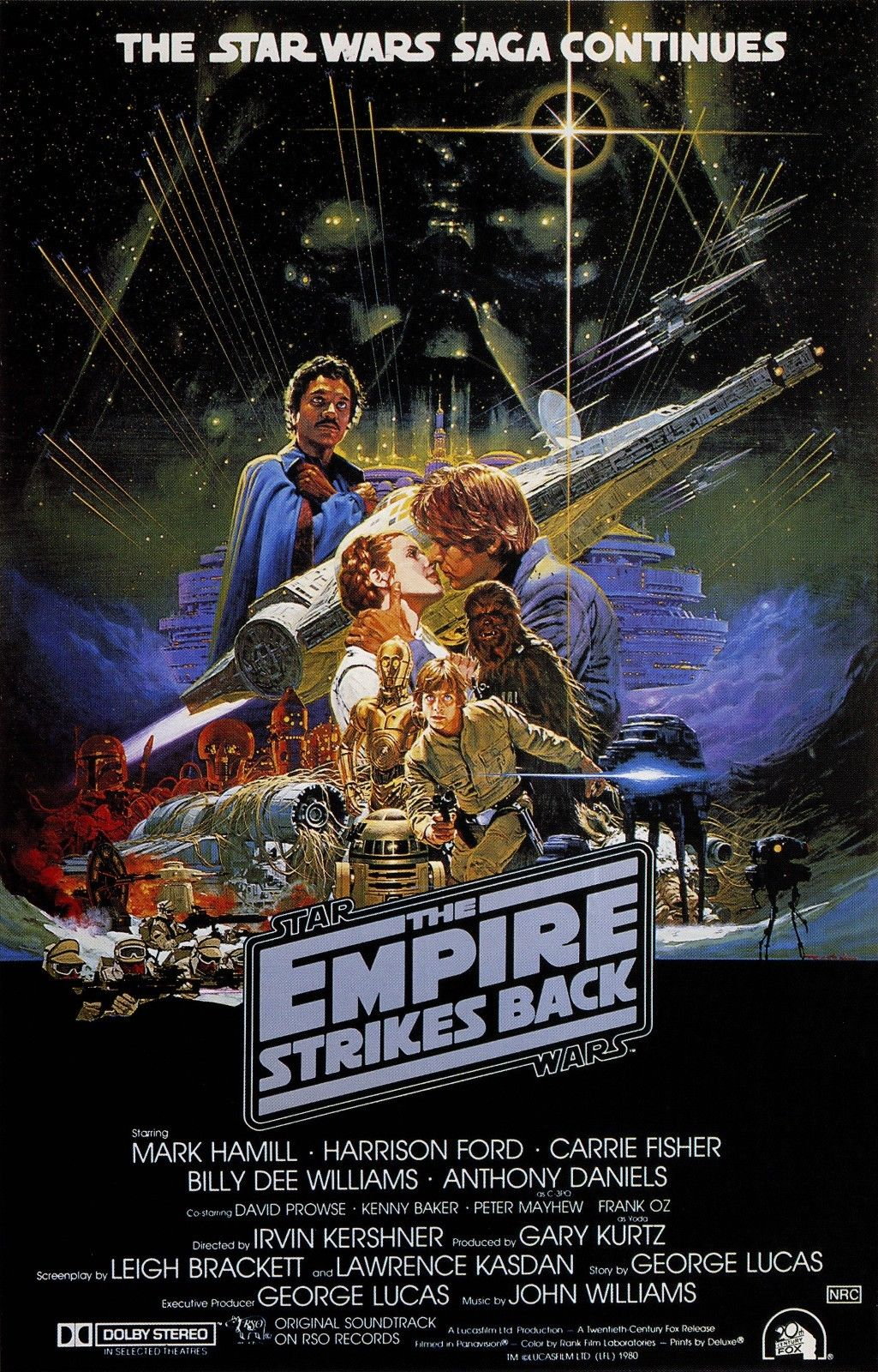 star wars empire strikes back movie poster art return jedi 24x36