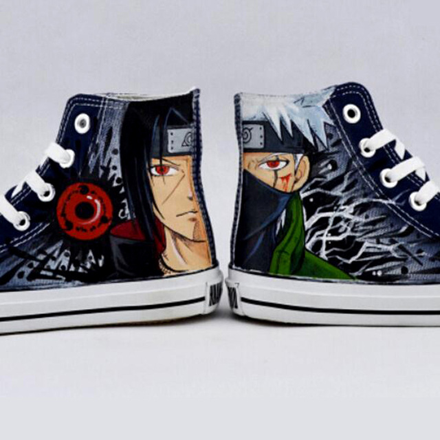Naruto Series Breathable Hand Painted Canvas Shoes