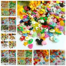 50-100PCS mixed/single Dyed Plastic buttons coat boots sewing clothes accessories decorative button promotion