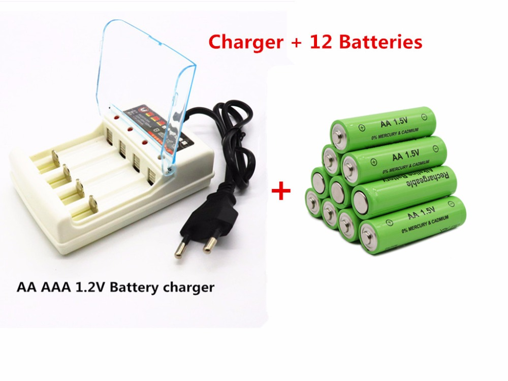GTF AA battery 3000 1.5 V Quanlity Rechargeable battery AA 3000mAh BTY NI-MH 1.5V Rechargeable Battery+Charger image