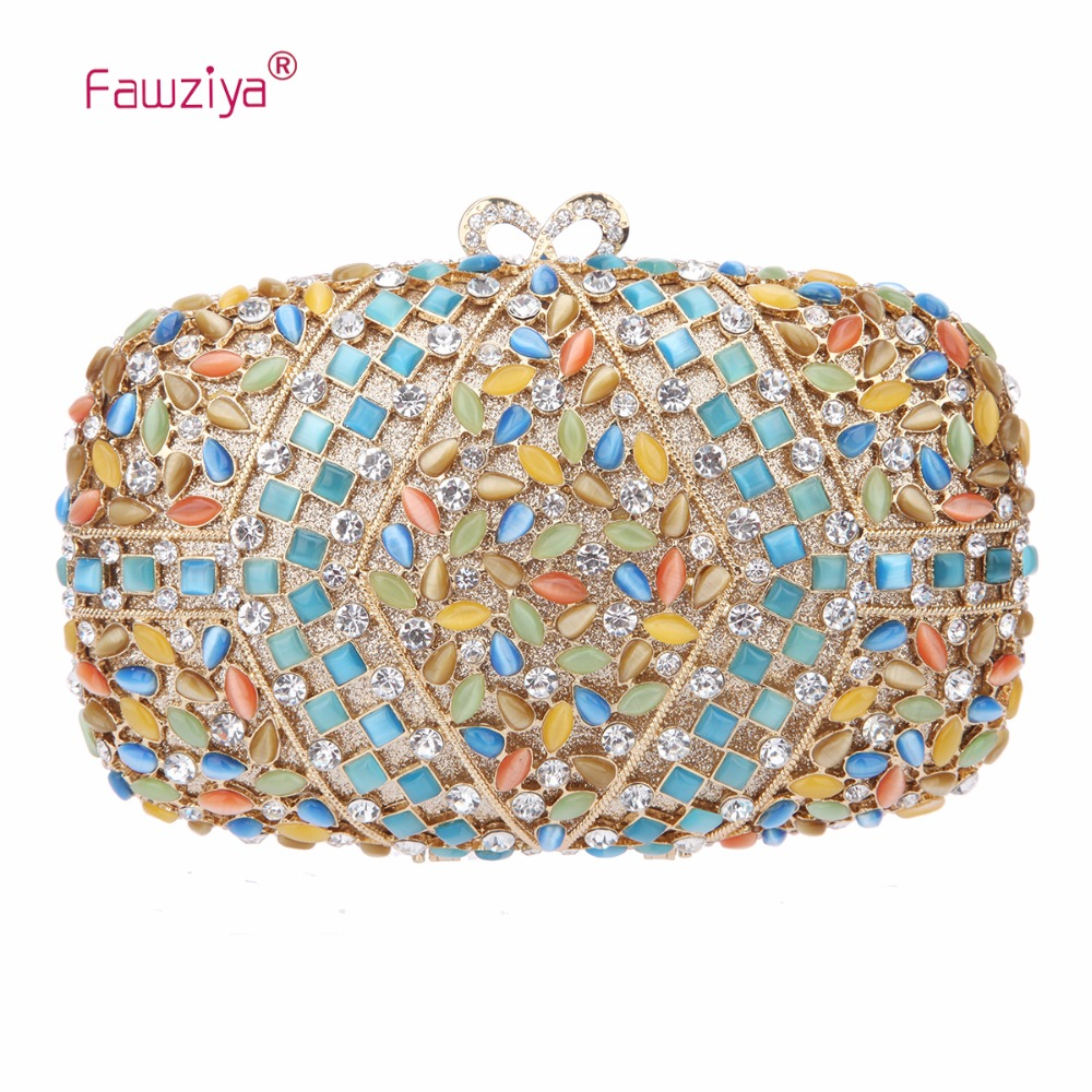 Fawziya  Women Messenger Bags Man Made Cat's Eye Crystal Clutches Purses And Clutches For Women Bags fawziya womens handbags and purses man made cat s eye sunflower clutch bag for women purse