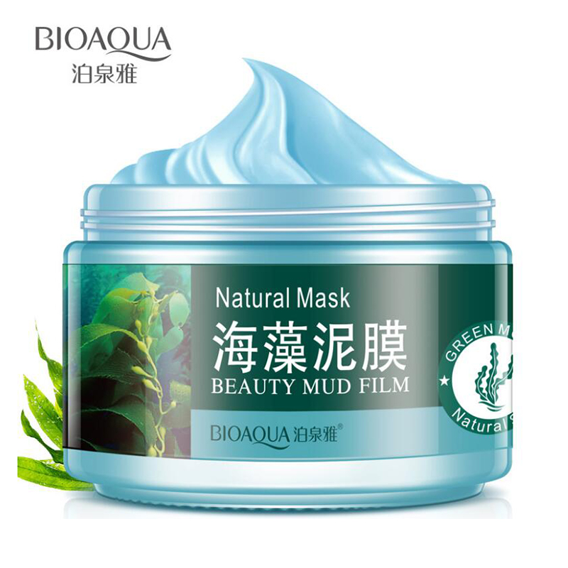 BIOAQUA Face Care Mung Bean Seaweed Mud Facial Mask Blackhead Remove Whitening Moisturizing Acne Treatment Face Mask