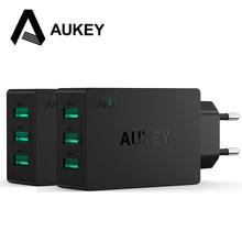 Aukey 3 Puertos Estación de Carga USB Cargador de Pared 30 W 5 V/6A Ayunan Cargador Adaptador con AlPower Tecnología