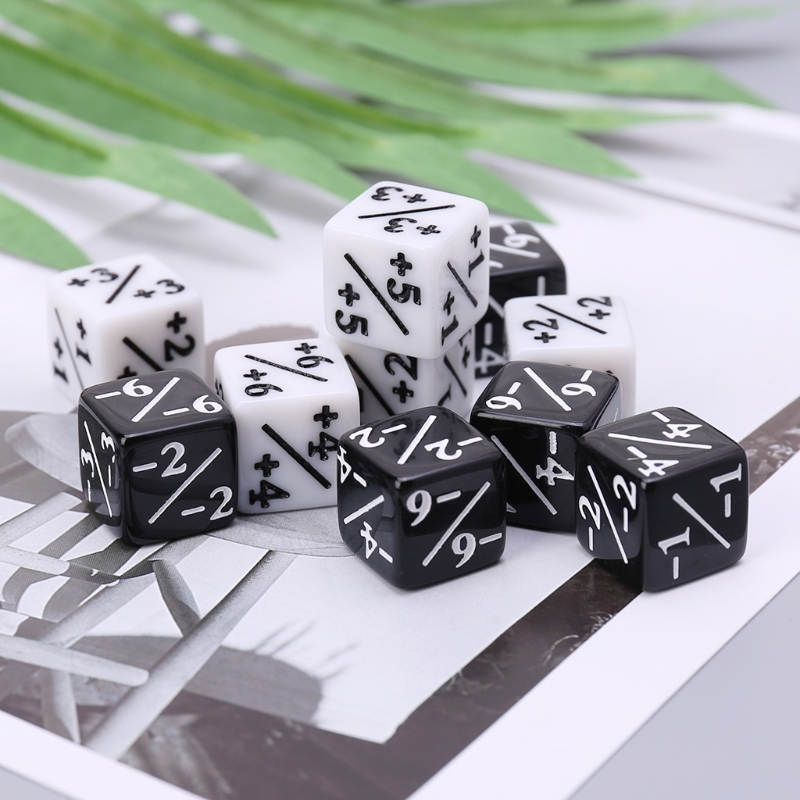 Sporting Ootdty Hot Sell 10pcs Math Fraction Dices Dies Six Sided D6 For Kids Children Number Learning Commodities Are Available Without Restriction Entertainment Gambling