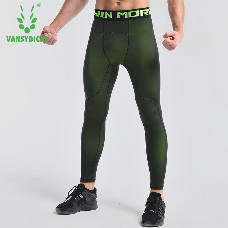 Vansydical Compression Pants Sports Running Tights Men Jogging Leggings Fitness Gym Clothing Sport Leggings Men Trousers latex breeches jeans rubber pants trousers front zipper gummi bottoms pantaloons jodhpurs leggings tights plus size xxxl kz 081