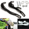 "Black/White Motorcycle Motocross Dirt Bike Alloy 7/8"" Handlebar Hand Guards Handguards"