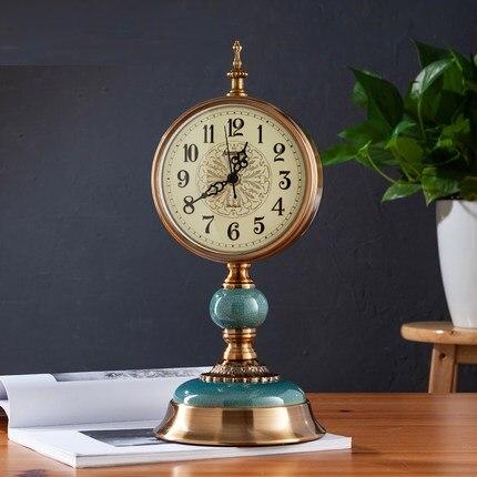 Ameublement Snooze fonction décoration pendule Table alarme Silence bureau horloge bureau nuit chambre métal Vintage horloge LY455