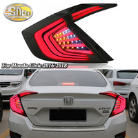 2PCS Car LED Tail Light Taillight For Honda Civic 2016 2017 2018 Rear Fog Lamp + Brake Light + Reverse Light + Turn Signal Light