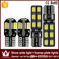 2pcs show wide light canbus 5730 8smd led + 2pcs license plate lights Special car2835 12smd led kit for honda crosstour2011-2015
