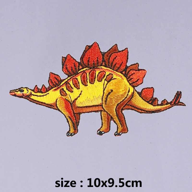 Pulaqi Jurassic Park yamalar işlemeli giyim çizgili giyim yama motosiklet çıkartmalar Punk yama hayvan bez etiket H