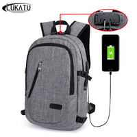 VRTREND Business Men Backpacks Anti Theft Notebook College School Travel Shoulder BagsWith USB Charging Port External