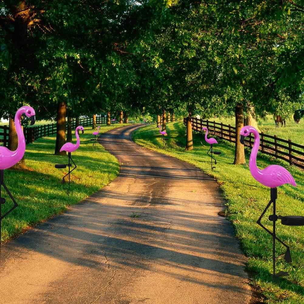 Ogrodowe światła ledowe symulowane Flamingo lampa trawnikowa wodoodporne solarne lampy LED na zewnątrz w ogrodzie dekoracji strony oświetlenie