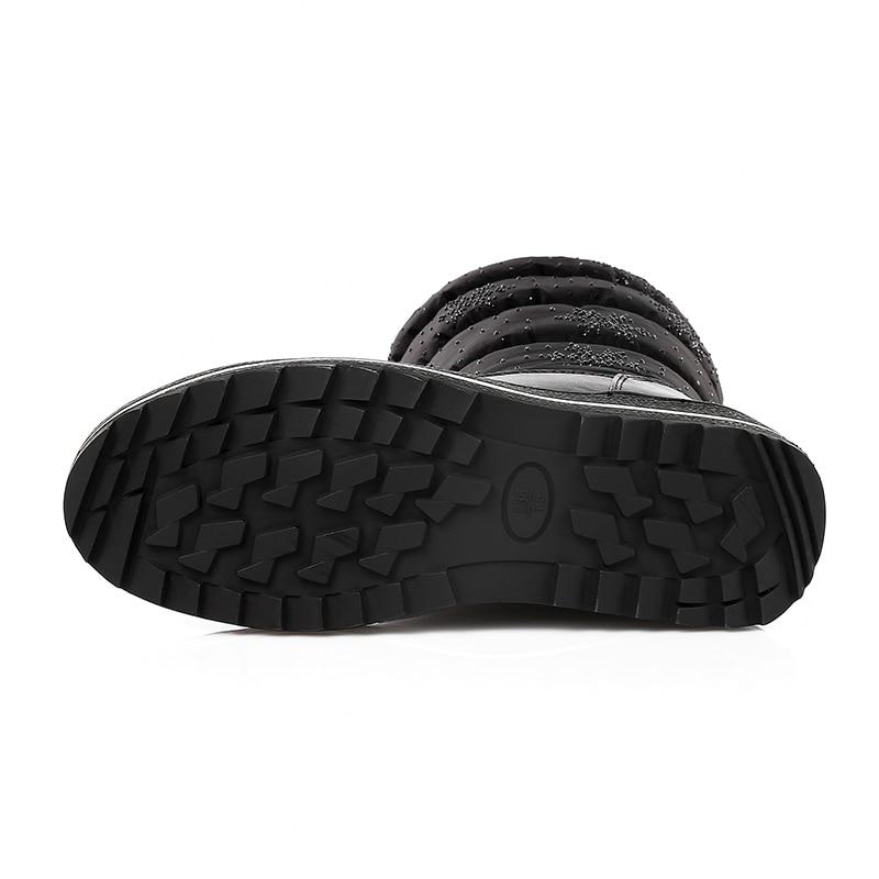 Cuña Kcenid 2018 Invierno Tamaño Media Nieve Negro Gruesa Botas De Pierna Mujer Rhinestone Piel Más Fashion Abajo 35 Caliente azul Mantener Nuevo A 44 Zapatos w8n8Br5Xfq