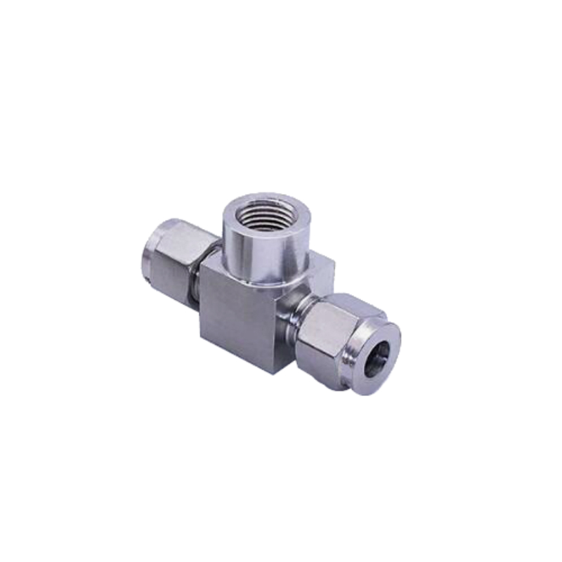 Stainless steel 304 Double Ferrule Compression Fitting Female Branch Tee Connector BSP Thread Pressure Gauge Connector cnz hosetail connector fitting barbed female bsp 1 1 2 inch thread set of 2