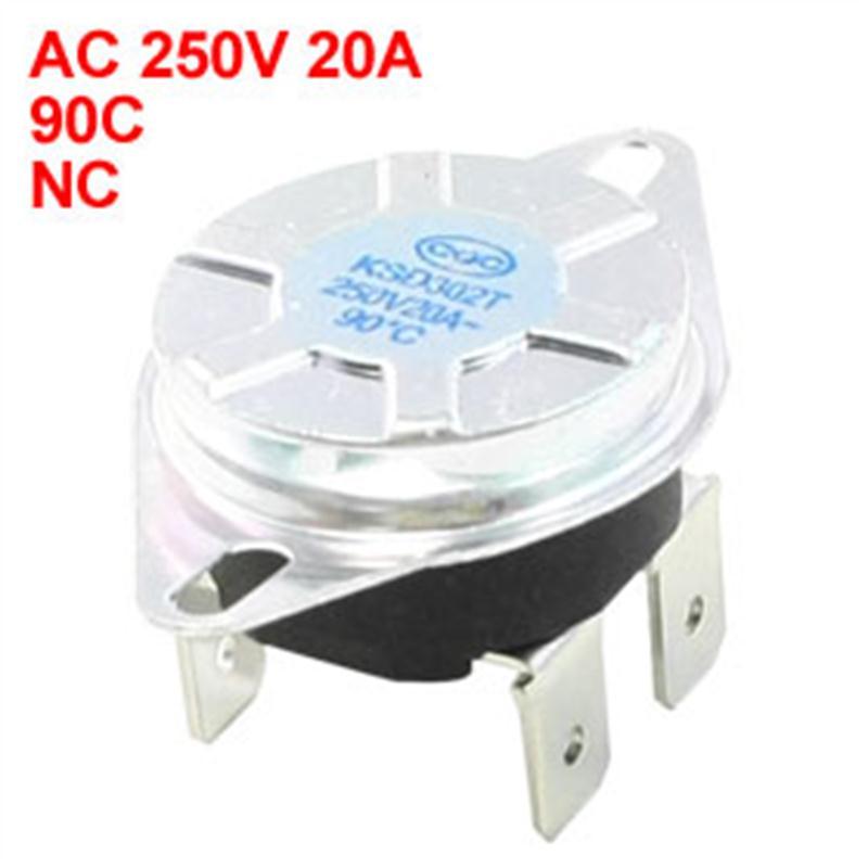 Uxcell Ksd302t Temperature Controller Bimetal Thermostat Nc 4Pin Ac250v 60C | 65C 75C 80C 82C 85C 90C 92C 95C