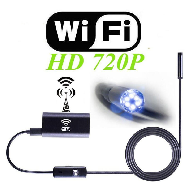 Wireless WIFI Endoscope Camera Waterproof Detection Mini 8mm 2/3.5/5M USB For Iphone Android PC IOS