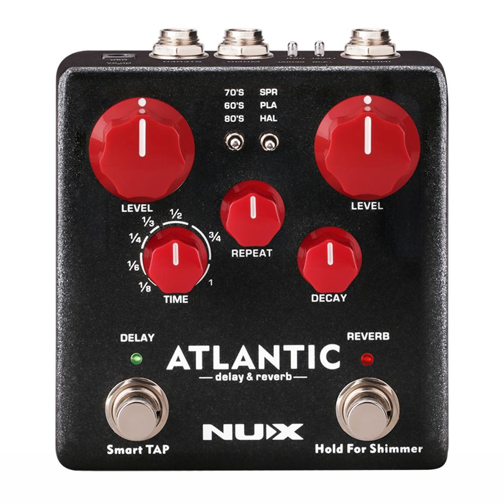 NUX Atlantic Delay & Reverb Effect Pedal with Inside Routing and Secondary reverb Effects Stompbox Electric Guitar Accessories цена и фото