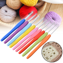 9pcs Multi-colored Soft Grip Aluminium Crochet Hook Knitting Tool Kit 2mm 2.5mm 3mm 3.5mm 4mm 4.5mm 5mm 5.5mm 6mm DIY Crafts