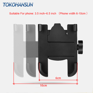 Image 4 - Motorcycle Telephone Holder Support Moto Bicycle Rear View Mirror Stand Mount Aluminum Scooter Motorbike Phone for Samsung s9 s8