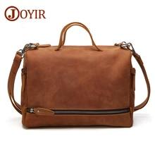 JOYIR Designer Genuine Leather Men Large Messenger Bags Casual Business Crossbody Bag Leather Shoulder Bags For