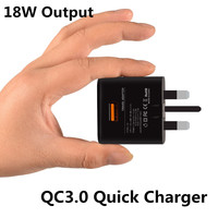 CE FCC QC3 0 Wall Charger Home Travel Qualcomm Quick Charge 3 0 Charging Adapter UK