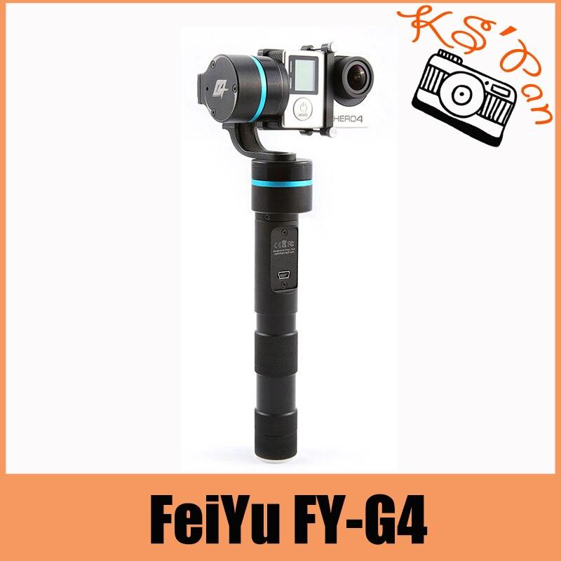 FeiYu FY-G4 3 axes à main cardan poignée sans brosse support de caméra stabilycam pour Gopro Hero 3 3 + 4 Compatible avec Gopro3 LCD